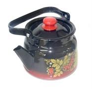 Чайник С2714.38, 2.3л, эмалированный, с рисунком, красно-чёрный