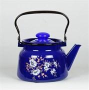 Чайник С2714.3К, 2.3л, эмалированный, с рисунком, кобальтовый