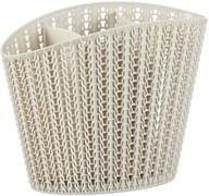 Сушилка для столовых приборов Вязание М1166, пластиковый, белый ротанг