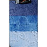 Коврик в ванную Санакс 00205 SILVER, 60х100+50х60см, двойной, полиэстер, голубой