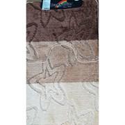Коврик в ванную Санакс 00207 SILVER, 60х100+50х60см, двойной, полиэстер, коричневый