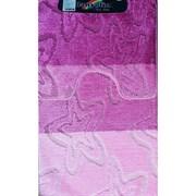 Коврик в ванную Санакс 00208 SILVER, 60х100+50х60см, двойной, полиэстер, розовый
