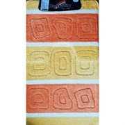 Коврик в ванную Санакс 00209 SILVER, 60х100+50х60см, двойной, полиэстер, желтый