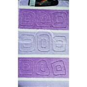 Коврик в ванную Санакс 00210 SILVER, 60х100+50х60см, двойной, полиэстер, фиолетовый