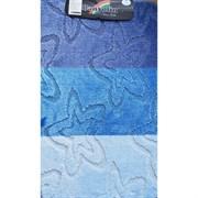 Коврик в ванную Санакс 00212 SILVER, 60х100см, одинарный, полиэстер, голубой