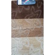 Коврик в ванную Санакс 00214 SILVER, 60х100см, одинарный, полиэстер, коричневый