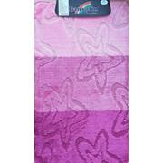 Коврик в ванную Санакс 00215 SILVER, 60х100см, одинарный, полиэстер, розовый