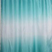 Штора для ванной комнаты Санакс 01-01, Бирюзовый переход