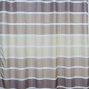 Штора для ванной комнаты Санакс 01-03, горизонтальные коричневый полосы