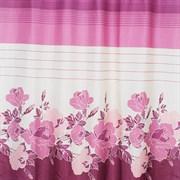 Штора для ванной комнаты Санакс 01-09, красные розы