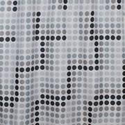 Штора для ванной комнаты Санакс 01-20, черно-белые кружки