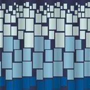 Штора для ванной комнаты Санакс 01-33, Цветные прямоугольники