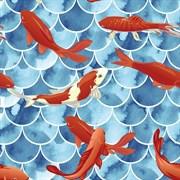Штора для ванной комнаты Санакс 01-69, Рыбки