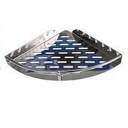 Полка для принадлежностей ванной BRIMIX 5652, угловая, одинарная, нержавеющая сталь, с перфорацией