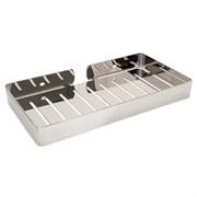 Полка для принадлежностей ванной BRIMIX 5661, литая, прямоугольная, большая, одинарная, нержавеющая сталь
