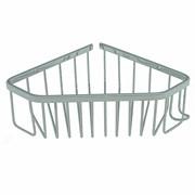 Полка для принадлежностей ванной Санакс 75037, угловая, пятиугольная, одинарная, 22см, нержавеющая сталь