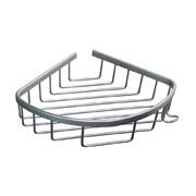 Полка для принадлежностей ванной Санакс 75060, угловая, овальная, одинарная, 18см, алюминиевая
