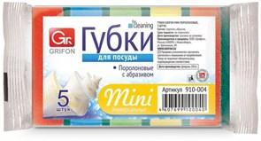Губка для посуды GRIFON 910-004, Мини, 80x53x27мм, поролон, набор 5шт