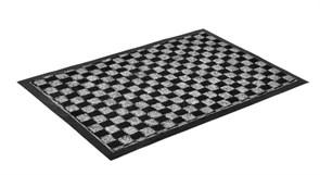 Коврик влаговпитывающий Vortex Hall 22398, 40x60см, полиэстер, черный/серый