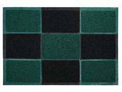 Коврик придверный VORTEX, 40x60см, пористый, черно-зеленый, ПВХ