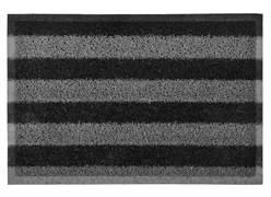 Коврик придверный VORTEX, 40x60см, пористый, черно-серые полосы, ПВХ