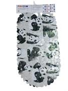 Коврик СПА 14-156, 67x36см, Панда белая, виниловый