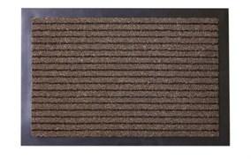 Коврик напольный Floor mat (Полоска), 40x60см, влаговпитывающий, темно-коричневый