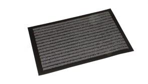 Коврик напольный Floor mat (Полоска), 40x60см, влаговпитывающий, темно-серый