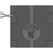 Коврик напольный АМ Не шуми, 65х62x0.6см, резиновый