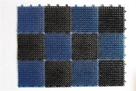 Коврик-травка входной грязезащитный 420x560мм, пластиковый, черно-синий