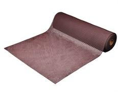 Коврик-дорожка против скольжения VORTEX Шашки, 4.5ммx0.9x10м, игольчатый, ПВХ, коричневый, на метраж