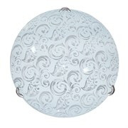 Светильник настенный/бра Дюна Агора, диаметр 300мм, 2х60W, E27, белый/глянец/хром