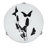 Светильник настенный/бра Дюна Камыш, диаметр 250мм, 1х60W E27, белый/глянец/хром