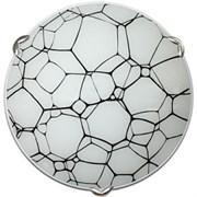 Светильник настенный/бра Дюна Молекула, диаметр 250мм, 1х60W, E27, черный с белым/глянец/хром