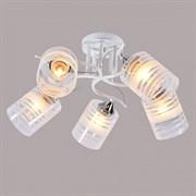 Люстра подвесная 5-рожковая DA5088/5, 595x250мм, 5х60W, E27, WT+CR белый/хром