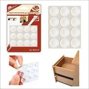 Протектор/амортизатор для дверей шкафа, самоклеящийся, диаметр 2см, прозрачный, упаковка 12шт