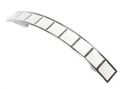 Ручка-скоба мебельная С24-01.22, 96мм, пластиковая, белый/хром