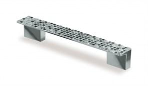 Ручка-скоба мебельная С22, 96-128мм, пластиковая, хром