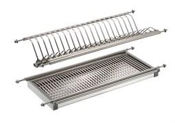 Сушилка для посуды/посудосушитель, 500мм, двухуровневая, с поддоном, нержавеющая сталь