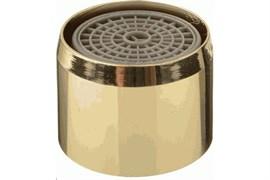 Насадка на кран (аэратор) Terma 20530 металлический, с внутренней резьбой 22мм, с пластиковой сеткой, цвет золотой