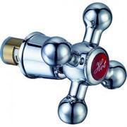 Кран-букса (вентильная головка)  для смесителя Do.Korona DK-112 с маховиком и юбкой, 1/2дюйма, 24 шлица, угол поворота 180 градусов