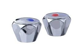 Комплект маховиков для смесителя TERMA №20220 Мария, под кран-буксу с 24 шлицами, диаметр штока 8мм, в комплекте пара, пластиковый