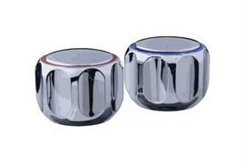 Комплект маховиков для смесителя TERMA №20221 Эрика, под кран-буксу с 24 шлицами, диаметр штока 8мм, в комплекте пара, пластиковый
