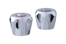 Комплект маховиков для смесителя TERMA №20232 Кари, под кран-буксу квадрат, размер штока 7х7мм, в комплекте пара, пластиковый