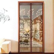 Штора/сетка москитная на дверь Dekotex IMAGE XH-03, 100x210см, на магнитах, коричневая BROWN
