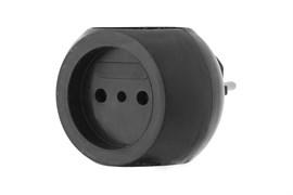 Тройник/разветвитель электрический REXANT 11-1063-1, шар, 220В, 6А, черный