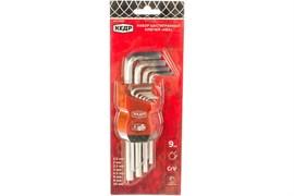 Набор ключей шестигранных (имбусовых) КЕДР 037-2320 25043, 1.5-10мм, 9 штук в наборе