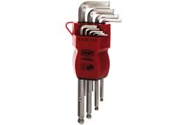 Набор ключей шестигранных (имбусовых) КЕДР 037-2321 25044, 1.5-10мм, с шариком, 9 штук в наборе, в пластиковом держателе