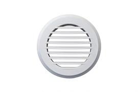 Решетка вентиляционная EVENT ПКР145, диаметр 145мм, круглая, без фланца, пластиковая, белая, наклонные жалюзи