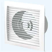 Решетка вентиляционная ERA 1717РС12.5Ф, с фланцем диаметром 125мм, 170х170мм, пластиковая, белая, прямые жалюзи